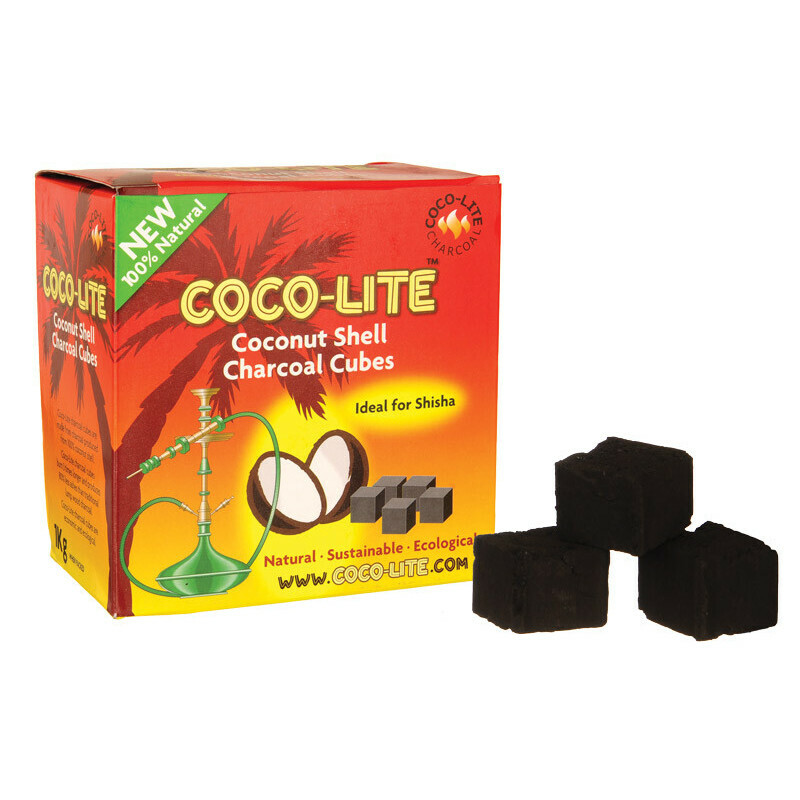 Display Coco-Lite Coconut Shell Charcoal Cubes 1Kg