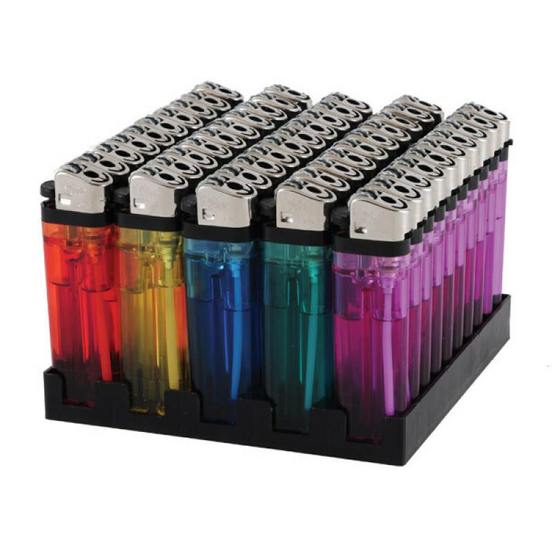 Display lighter transparant 50 pcs
