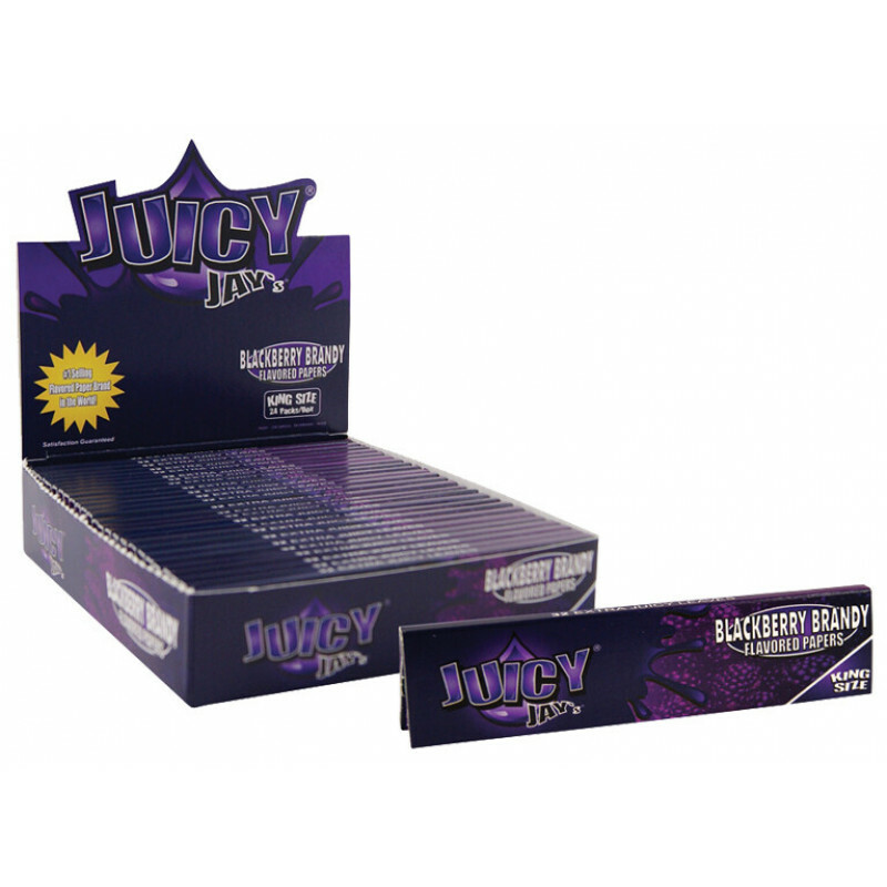 Juicy Jays Blackberry Brandy King Size Slim (Box/24)