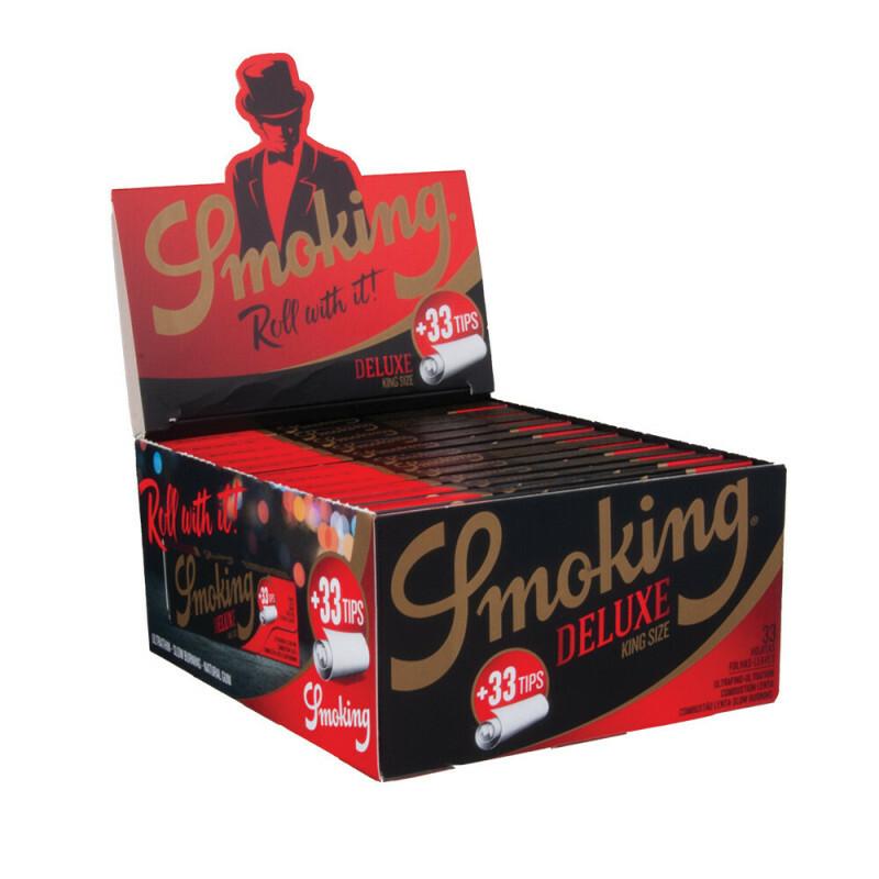 Display Smoking King Size Slim Black 2-in-1 24 pcs