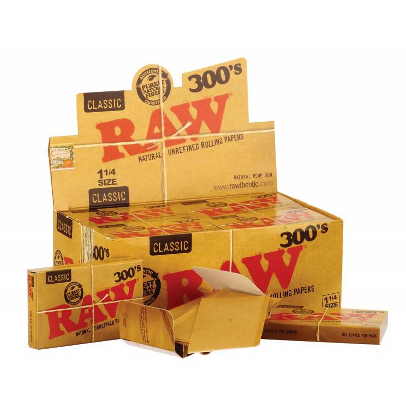 Display Raw 300 Small 1 1/4 300 Leaves 20 Pcs