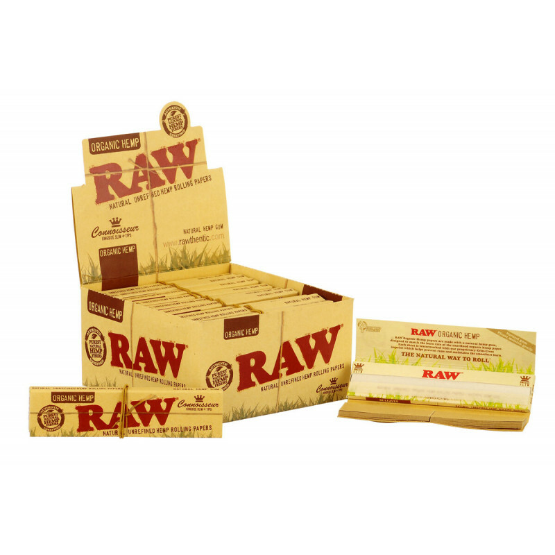 Display Raw Organic Connoisseur King Size Slim 2 In 1 Box 24