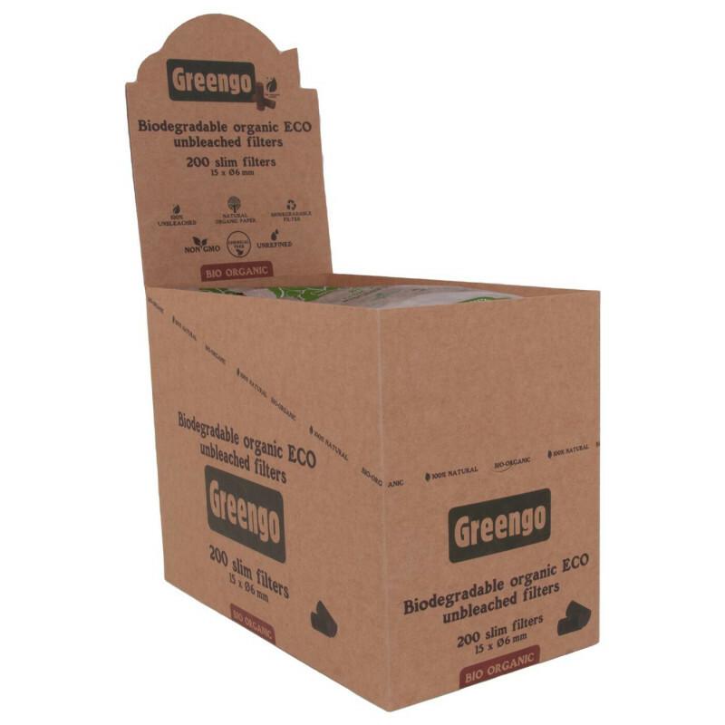 Display Greengo Bio Organic Filters 15Mm  20 Pcs