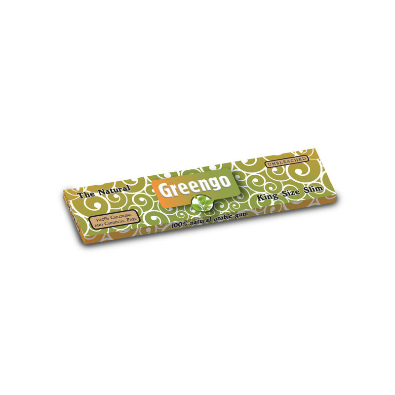 Greengo Unbleached King Size Slim 1 Pack