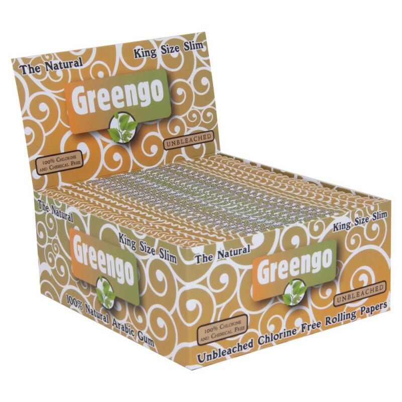 Display Greengo Unbleached King Size Slim 50 Pcs