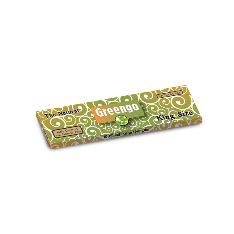 Greengo Unbleached King Size Regular 1 Pack