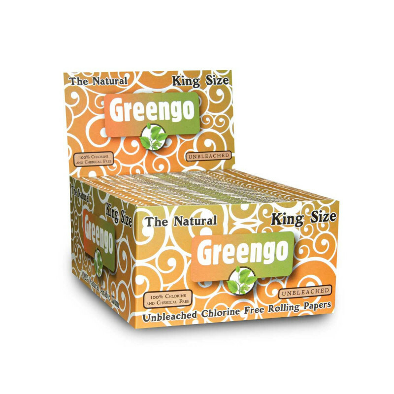 Display Greengo Unbleached King Size Regular 50 Pcs