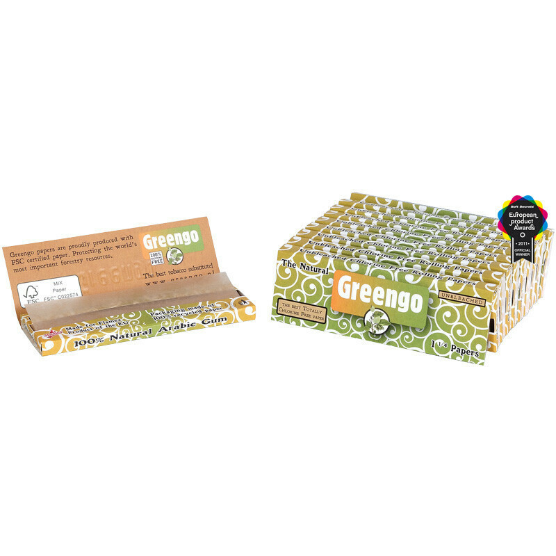 Greengo unbleached 1 1/4 papers 10 pack