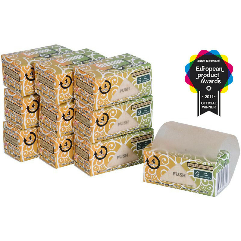 Greengo Unbleached Slim Rolls 44 Mm 10 Pack