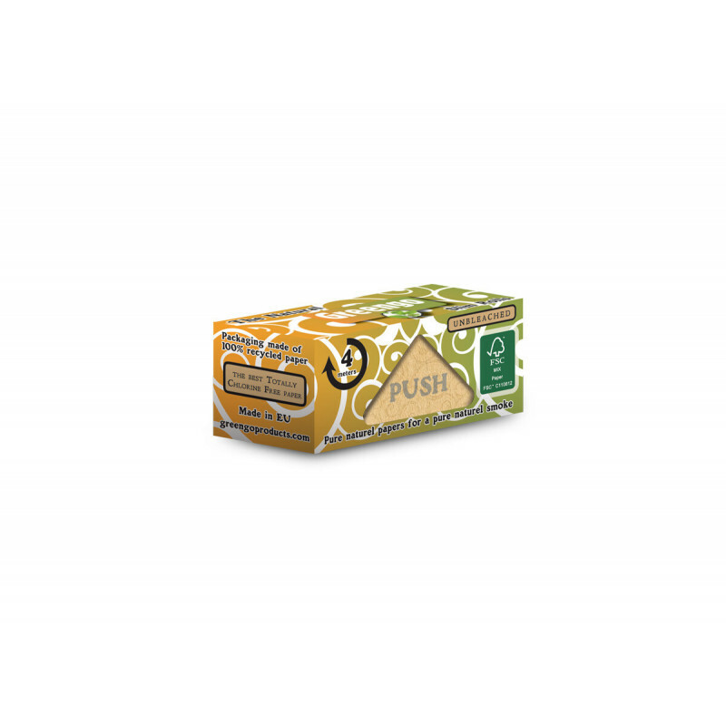 Greengo Unbleached Slim Roll 44 Mm 1 Pack