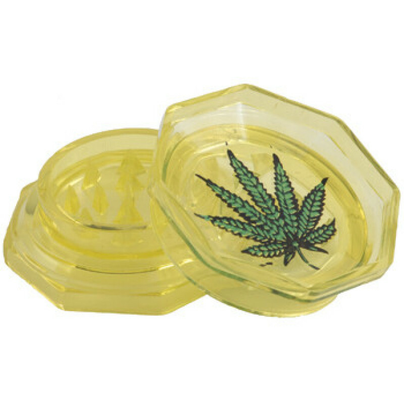 Acrylic grinder with leaf yellow