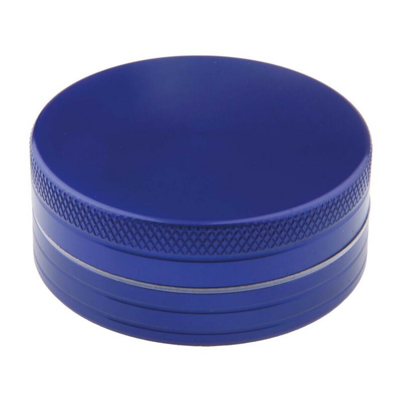 Aluminium grinder 2 parts 50 mm blue
