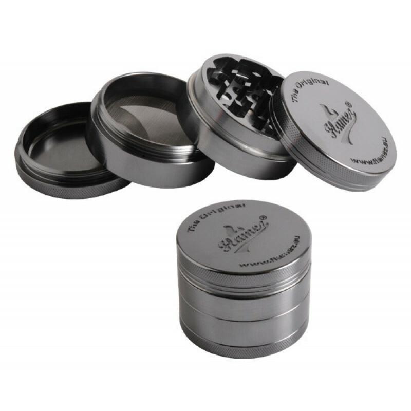 Flamez grinder 4 parts 40 mm grey
