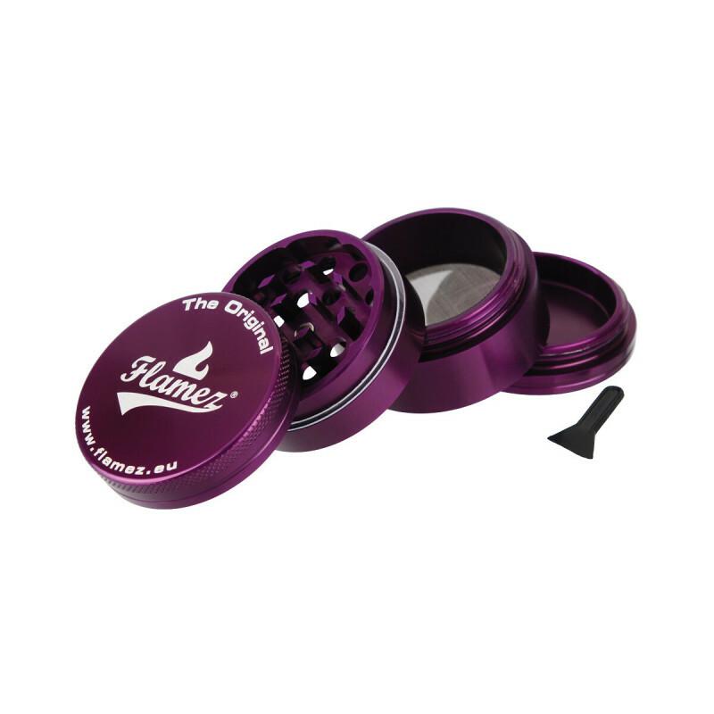 Flamez grinder 4 parts 50 mm purple