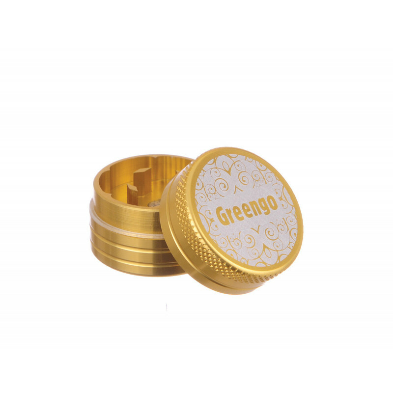 Greengo Grinder 2 Parts 30 Mm Gold