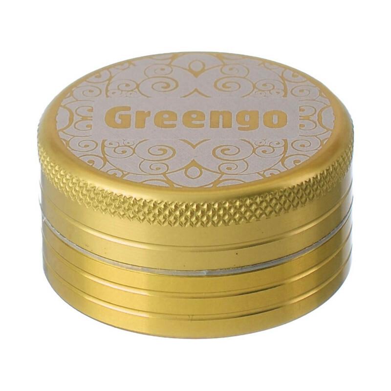 Greengo Grinder 2 Parts 40 Mm Gold