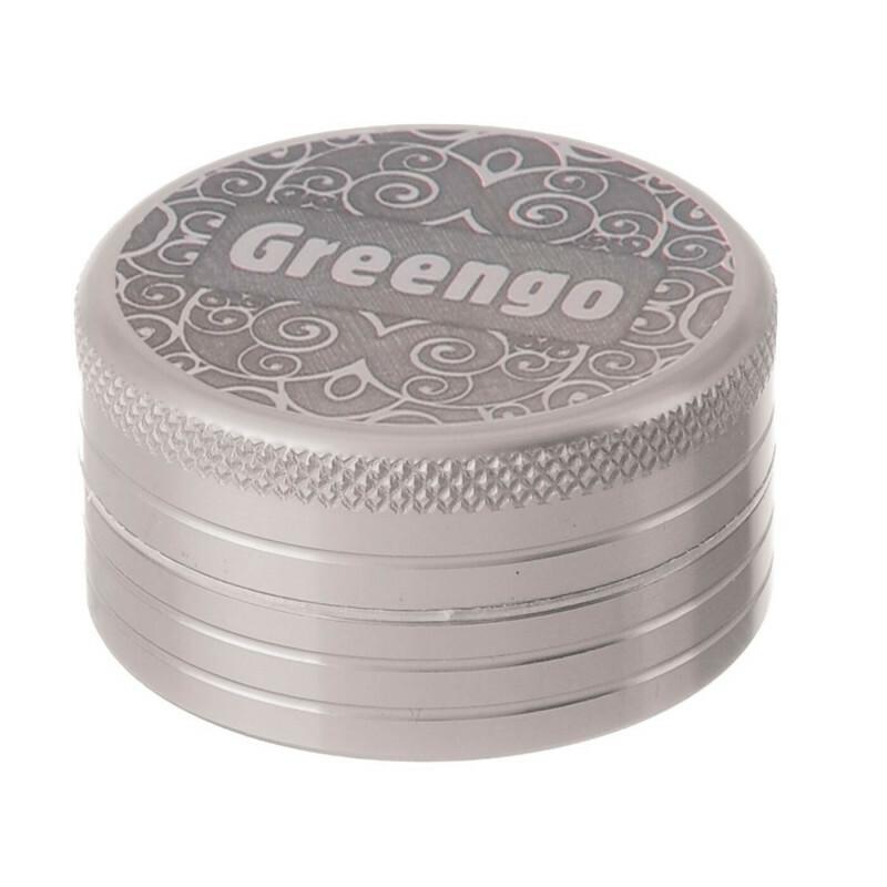 Greengo Grinder 2 Parts 40 Mm Silver