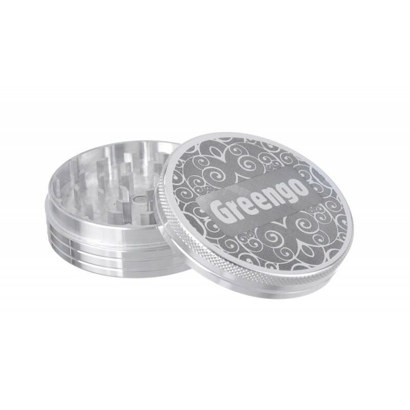 Greengo Grinder 2 Parts 63 Mm Silver