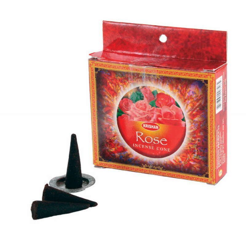 Incense cones rose (10 pcs)