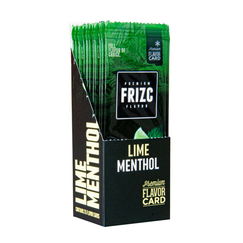Display Frizc Flavor Card Menthol & Lime 25 Pcs