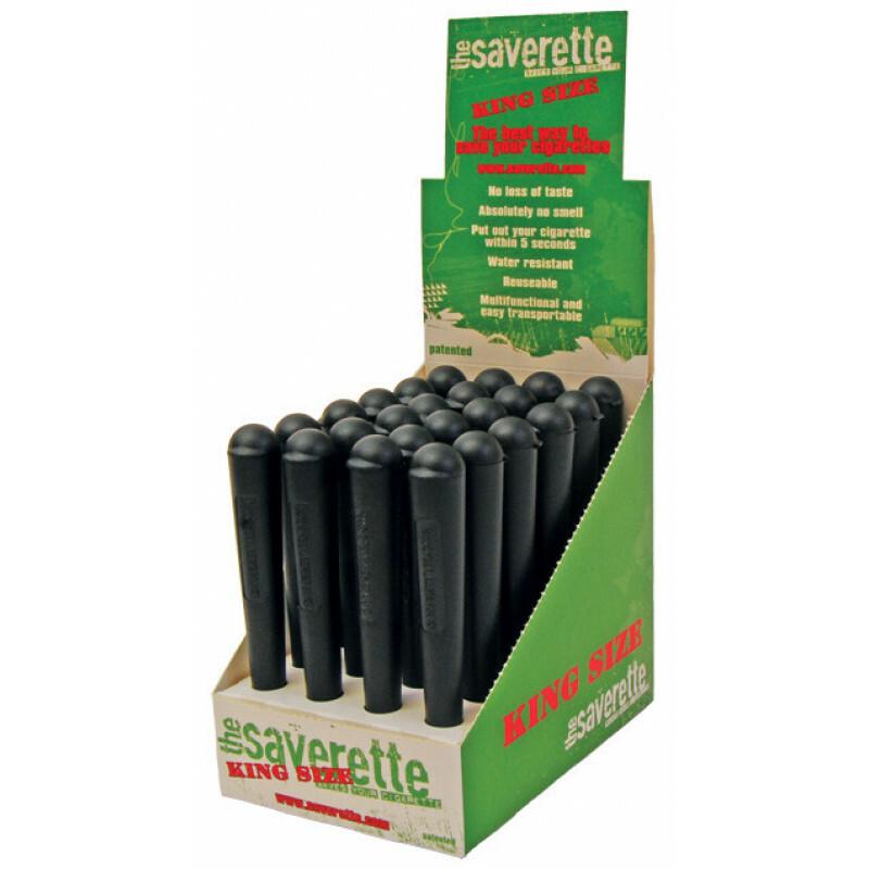 Display Saverette Joint Buisjes King Size Black 110 mm 24 pcs