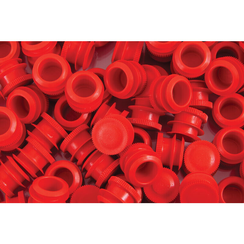 Caps for joint tube soft and straight  red( 500 pcs.)