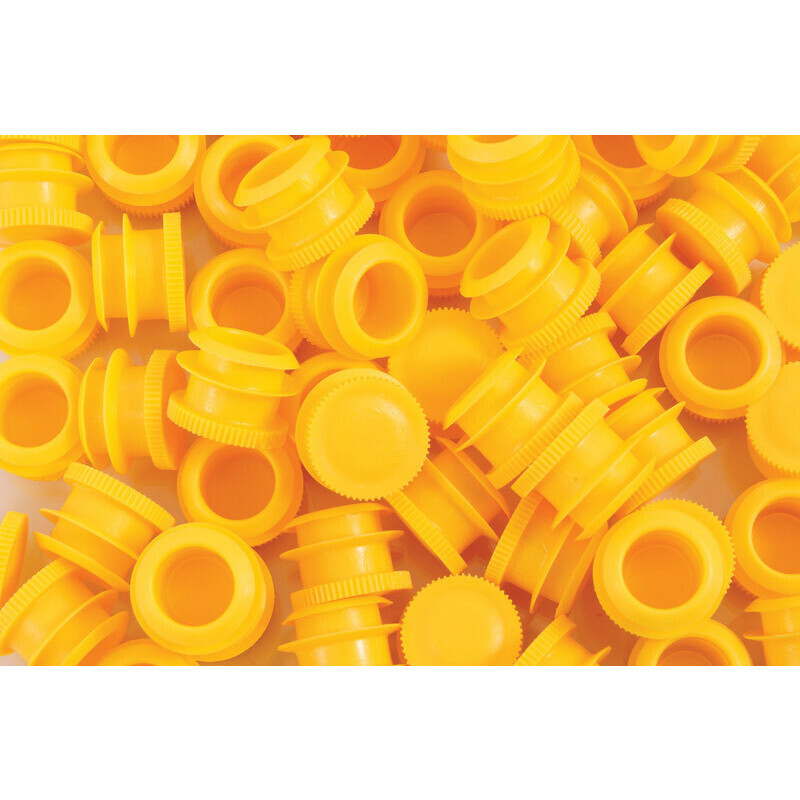 Caps for joint tube soft and straight  yellow( 500 pcs.)