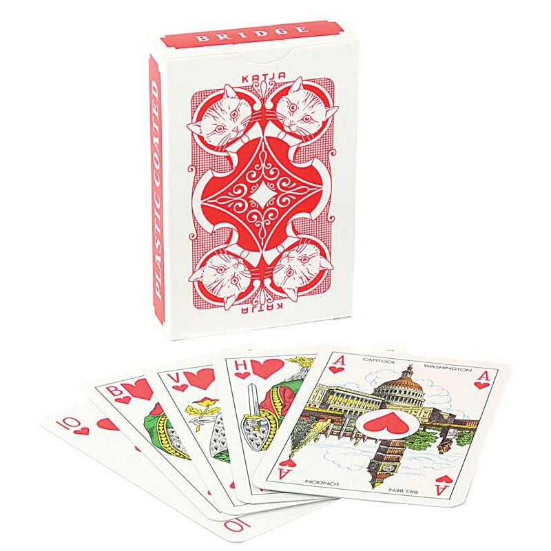 Katja playing cards red