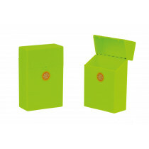 Clic Boxx Cigarette Box 20 Cig Fluorescent Design Yellow