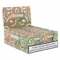 French Display Greengo Unbleached Slim Rolls 44 Mm 24 Pcs
