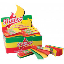 Display Flamez Rasta Tips 50 x 51 Leaves 160 gram