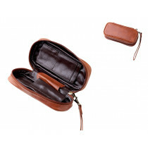 Angelo Pipebag Brown Leather 2 Pcs