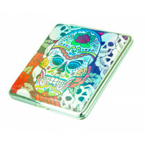 Angelo Cigarette Case Holographic Sugar Skull