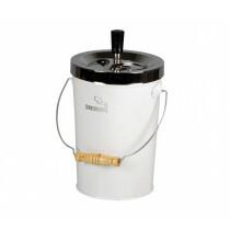 Bucket Spinning Ashtray Chrome/White 14 Cm