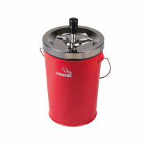 Bucket Spinning Ashtray Chrome/Red 14 Cm