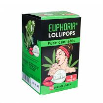 Cannabis Lollipops With Bubble Gum 1 X 10 Pcs