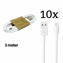 Grab N Go Micro Usb Charging Cable 3M Black 10 Pcs