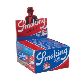Display Smoking King Size Blue 2-In-1 24 Pcs