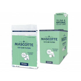 Display Mascotte Slim Filters 6Mm 20 Bags 120 Pcs