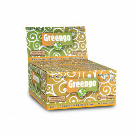 Display Greengo Unbleached King Size Slim 2 In 1 24 Pcs