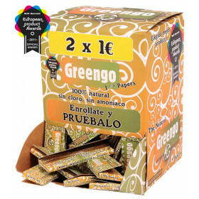 Display 100 pcs greengo unbleached 1 1/4 papers es