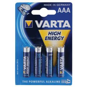 Varta high energy batteries aaa 4 pack