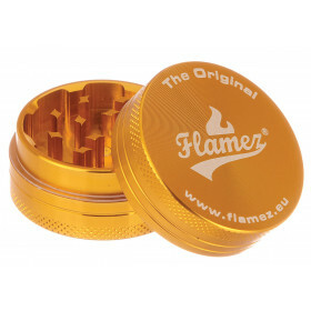 Flamez Grinder 2 Parts 40 Mm Gold