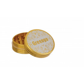 Greengo Grinder 2 Parts 50 Mm Gold