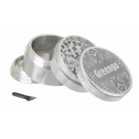 Greengo Grinder 4 Parts 63 Mm Silver