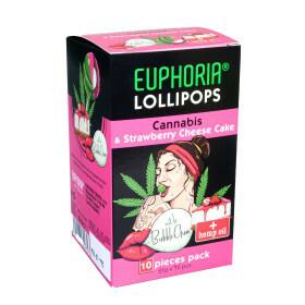 Cannabis Lollipops Aardbei met Kauwgom