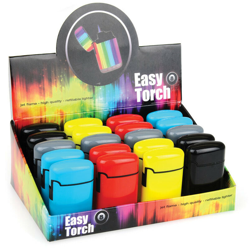 Display V-Fire Easy Torch 8 Solid 5 Colour Assorted 20 Pcs