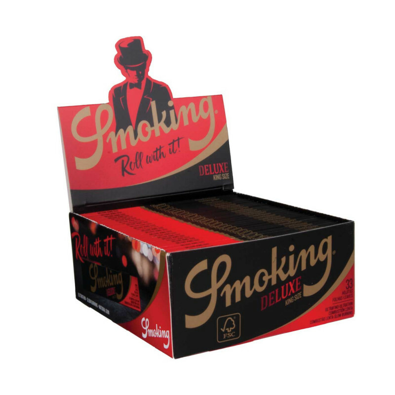 Smoking de luxe black king size 50 pcs