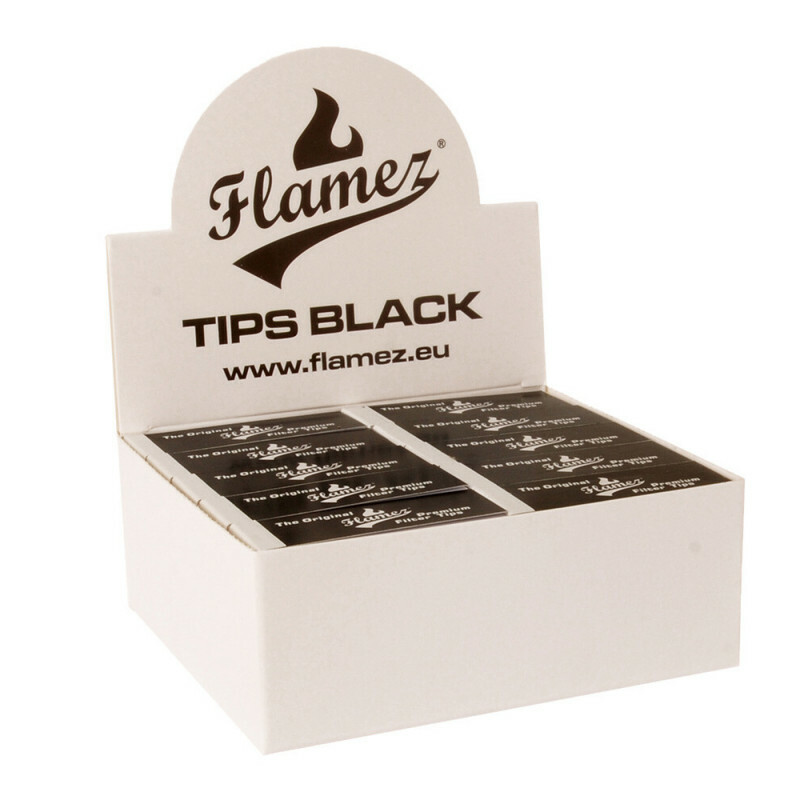Flamez filter tip booklet black 50 pcs