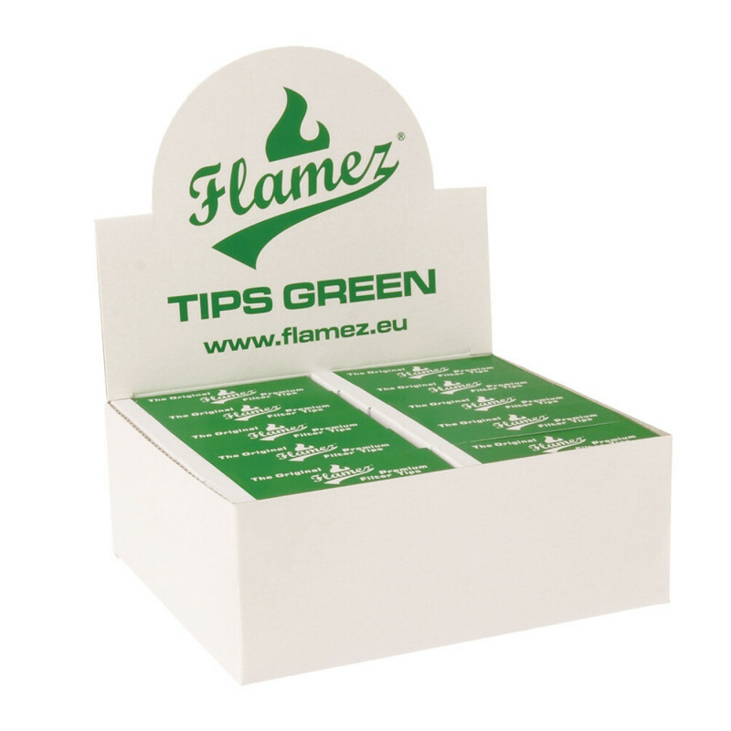 Flamez filter tip booklet green 50 pcs